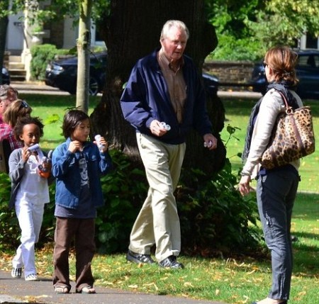 Jon Voight Has Grandpa Time With Jolie-Pitt Children