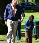 Jon Voight Takes Daughter Angelina Jolie's Children To The Park