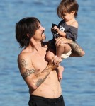 Anthony Kiedis and Son