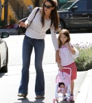 Katie Holmes and her daughter Suri in Los Angeles