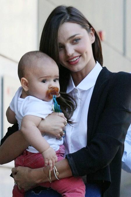 Miranda Kerr is seen with 7 month old baby Flynn in Sydney.