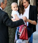Miranda Kerr is seen with 7 month old baby Flynn in Sydney.