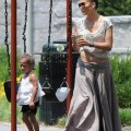 Jennifer Lopez with her twins Emme and Max at a Park this weekend 7.31