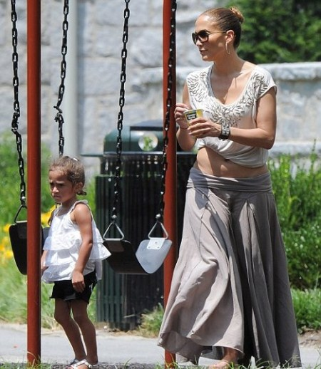 Jennifer Lopez Spends The Day At The Park With Max and Emme