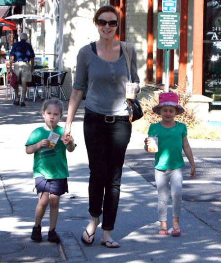 Marcia Cross and her daughters Eden and Savannah Mahoney spotted out and about in Santa Monica, CA.