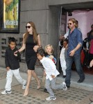 Brad Pitt and Angelina Jolie take their kids to see Wicked In Victotria theatre in London