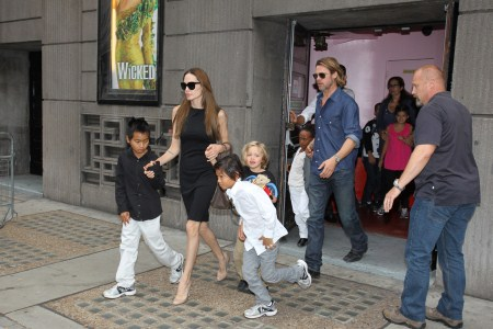 Jolie-Pitt Family Go To The Theater