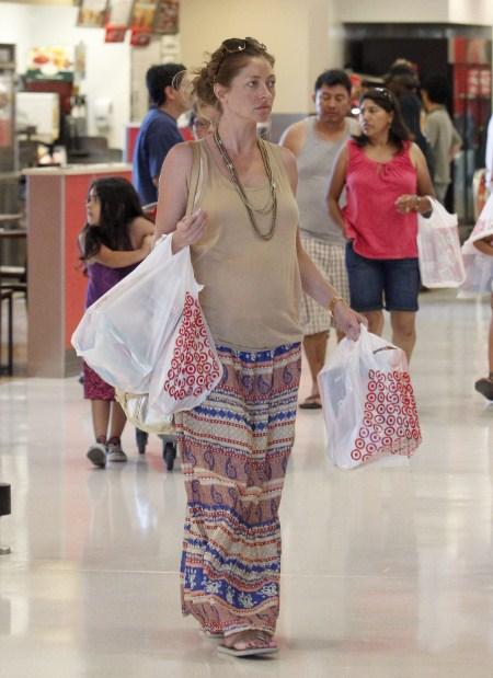 Rebecca Gayheart at Target Pregnant