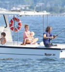 Britney Spears on a Boat With Sean and Jayden and Jason