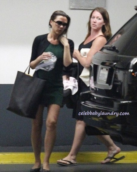 Victoria Beckham and Harper Seven Seen Out For The First Time