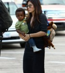 Sandra Bullock with baby Louis at Austin Texas Airport
