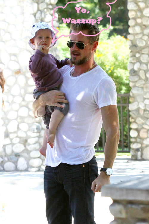 A Healthier Eric Dane Plays With Billie In The Park