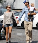 Ali Larter Hits The Street With Her Two Men
