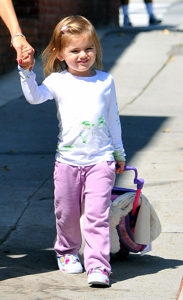 Alessandra Ambrosio and daughter Anja Mazur walking in Santa Monica.a1
