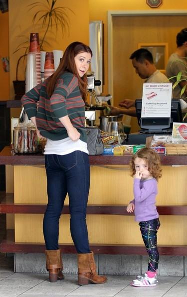 Alyson Hannigan and her daughter Satyana Marie Denisof