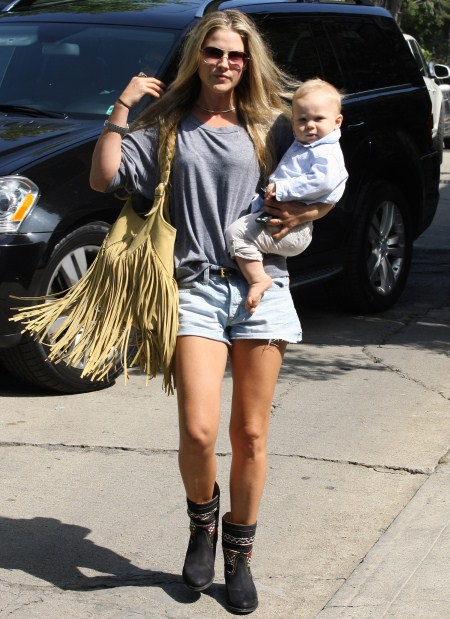 Actress Ali Larter and her baby boy Theodore MacArthur headed out for a day in Beverly Hills, Ca on September 21, 2011.