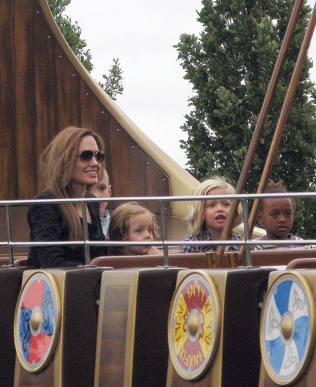 Angelina Jolie and Kids at Legoland in Windsor, UK - Sep 20
