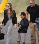 Angelina Jolie and son Maddox Go Flying in London