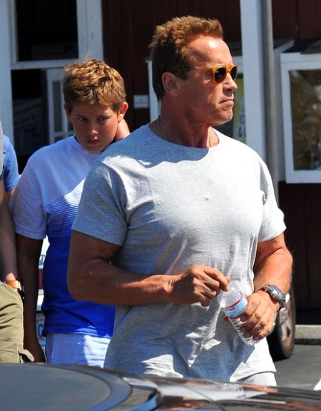 Arnold Schwarzenegger Spends Time With His Sons