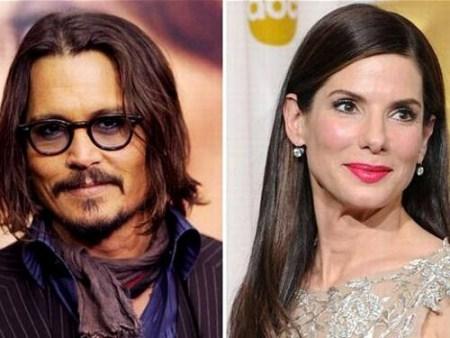 Sandra Bullock and Johnny Depp