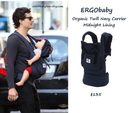 Celeb Baby Style: Carried InStyle - Orlando Bloom - Flynn Bloom
