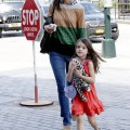 Katie Holmes Suri Cruise for a play date at the Chelsea Piers in New York City.