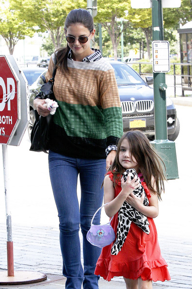 Katie Holmes and Suri Cruise Ready For NYC Fashion Week