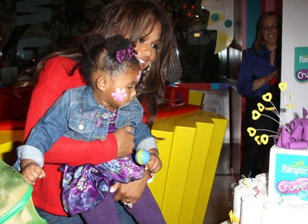 Christina Milian and her daughter Violet at the unveiling of Pampers New Cruise's series of diapers