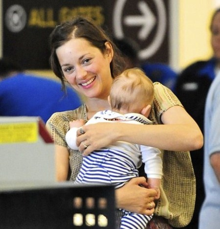 Marion Cotillard Reveals Son Marcel at LAX