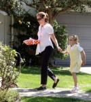 Jennifer Garner Takes Her Daughters to a Birthday Party