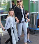 Kate Moss and Lila Grace in France