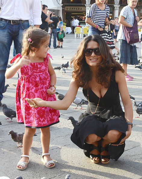 Salma Hayek and Francois-Henri Pinault with their daughter