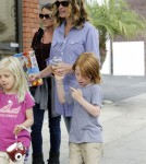 Julia Roberts spends a fun filled afternoon with daughter Hazel and son Henry Moder in Los Angeles, CA