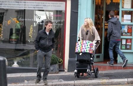 Matt Bellamy and Kate Hudson in North London with Bingham Hawn Bellamy