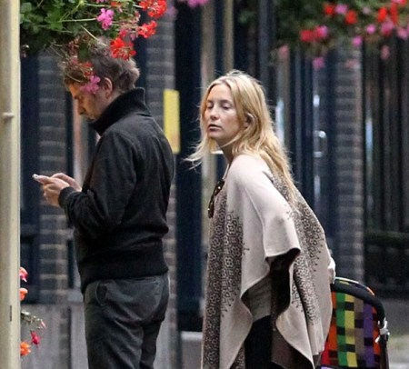 Matt Bellamy and Kate Hudson in North London with Bingham Hawn Bellamy