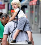 Naomi Watts, Liev Schreiber, and their two boys enjoy a family day out in New York City