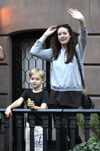 Liv Tyler and Son Milo Wave