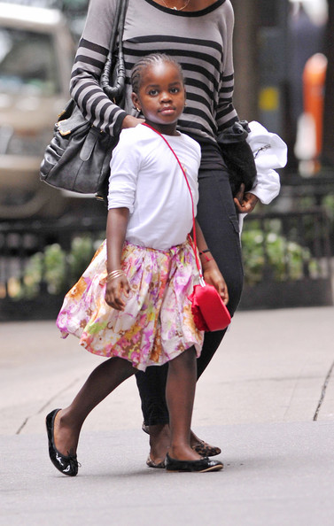 Madonna and her children are seen going to Kabbalah in NYC.