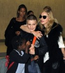 Madonna Seen at Heathrow Airport in London With Her Children