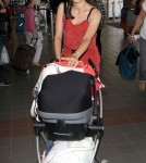 Marion Cotillard and Son Marcel Enter Lax For a Flight Out