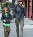 Sarah Jessica Parker walks James Wilke Broderick to school.