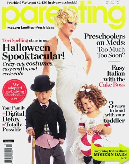 Tori Spelling Covers Parenting Magazine With Stella and Liam