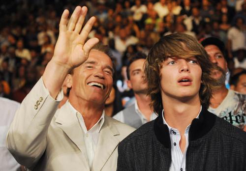 Patrick Schwarzenegger and Arnold Schwarzenegger