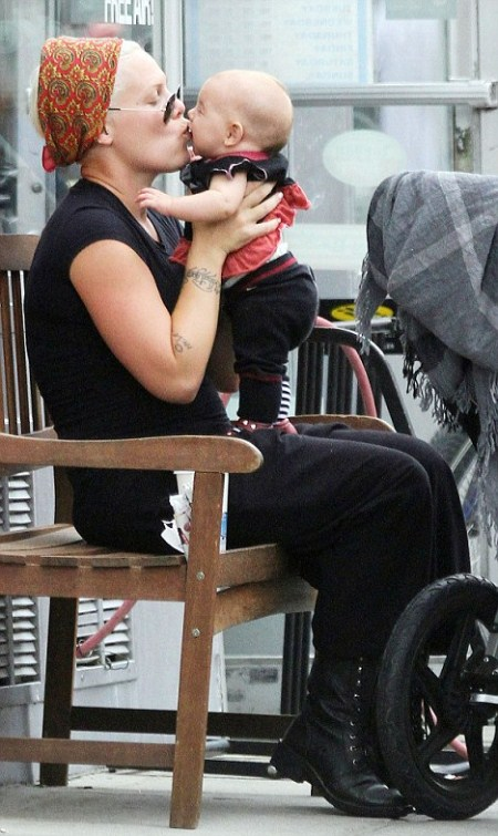 Pink Dotes On Willow Sage After Lunch With Husband Carey Hart