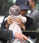 Natalie Portman and her fiancé Benjamin Millepied Take Alef Out For the First Time