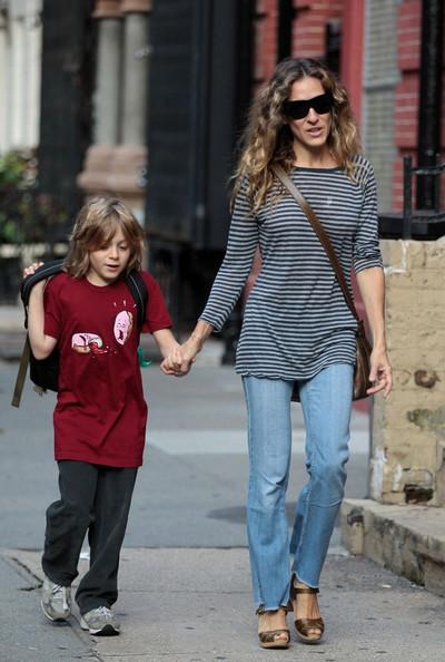 Sarah Jessica Parker walks her son, James Wilke to School