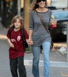 Sarah Jessica Parker walks her son, James Wilke to School