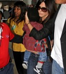 Sandra Bullock and Louis Leaving LAX