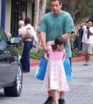 Adam Sandler spends the afternoon with his kids Sadie and Sunny Sandler on September 17, 2011