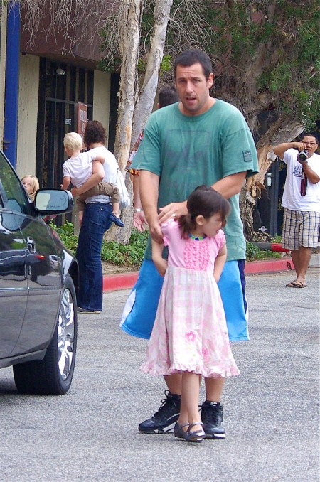 Adam Sandler Takes His Girls To Gymnastics